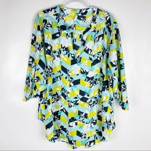 EST 1946 Size 22/24W Floral Pull Tab Blouse